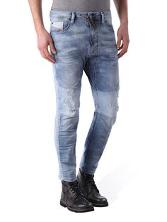 Authority in Denim, Leather, Outerwear, Shoes and Bags Jogg Jeans, Diesel Store, Low Waist Jeans, Diesel Jeans, Light Blue, Carrot, Pants, Leather, Men's Denim