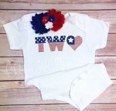 A personal favorite from my Etsy shop https://www.etsy.com/listing/398178033/fourth-of-july-bodysuit-2pc-set-w-shabby