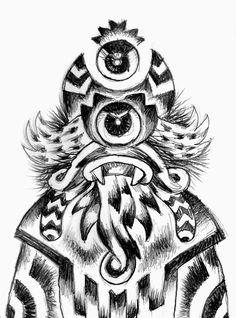 pencil - drawing - monster - Giuseppe Santoro