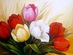 TULIPAS (Pintura) por lauro santos