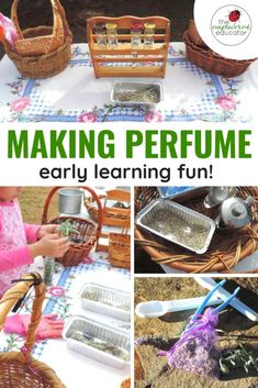 Sustainable Fun with Kids - Making Lavender Perfume - The Empowered Educator Sensory Bottles, Sensory Bins, Sensory Activities, Infant Activities, Activities For Kids, Enrichment Activities, Sensory Play, Play Based Learning, Early Learning