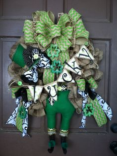 St Patrick's Day leprechaun wreath