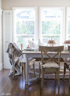ella claire inspired | christmas tablescape