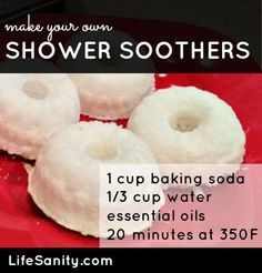 make your own shower soothers...also for diaper pail. baking them might help them say together