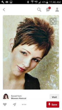 Short spiky hairstyles for women have been known to have a glamorous and sassy look in quite a simple way. Women often prefer these short spiky hairstyles. Short Spiky Hairstyles, Short Pixie Haircuts, Short Hairstyles For Women, Haircut Short, Easy Hairstyles, Hairstyle Short, Hairstyle Ideas, 1940s Hairstyles, 2016 Haircut