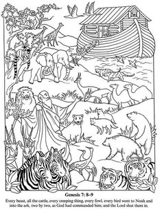 Noahs Ark Coloring Pages Activities Printable Page For Free Bible Stories Children Rainbow Bible Activities For Kids, Sunday School Activities, Bible Lessons For Kids, Sunday School Lessons, Sunday School Crafts, Bible For Kids, Bible Coloring Pages, Coloring Books, Noahs Ark Craft