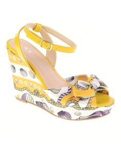 1e15c39bab7 Another great find on  zulily! Yellow Into You Wedge Sandal by CL by Laundry