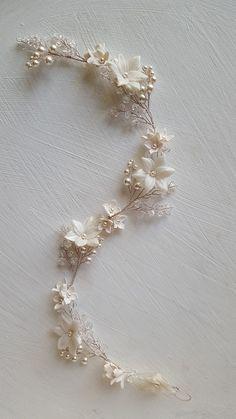 Gorgeous swarovski crystal and pearl bridal hair vine for weddings Wedding Hair Pins, Bridal Hair Vine, Bridal Crown, Pearl Bridal, Bridal Sash, Wedding Shoes, Wedding Dresses, Hair Jewelry, Bridal Jewelry