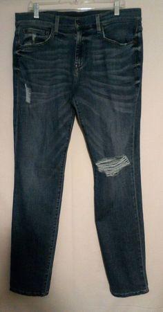 Lovely BNWT M/&S indigo mid rise slim leg stretch jeans 16 regular