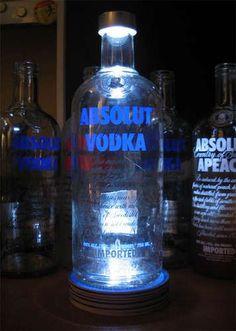 Recycled liquor bottle