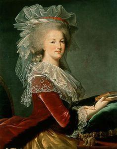 Vigee Le Brun, Marie Antoinette, 1785 http://www.batguano.com/vlbmarie85konopiste.jpg