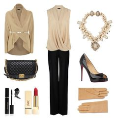 """""""Look of the day!"""" by the-great-closet ❤ liked on Polyvore featuring ESCADA, STELLA McCARTNEY, Erickson Beamon, PUR, Elizabeth Arden, Christian Louboutin and Chanel"""