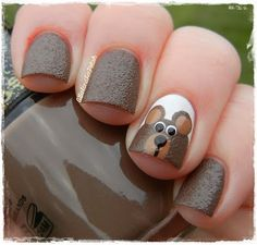 Bear nail art                                                                                                                                                                                 More