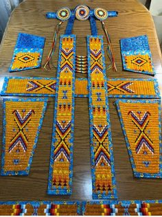 Native American Clothing, Native American Regalia, Native American Beadwork, Blackfoot Indian, Powwow Regalia, Bead Sewing, Light Turquoise, Loom Patterns, Native Art