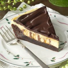 Brownie Cheesecake Snickers Pie Recipe from Taste of Home