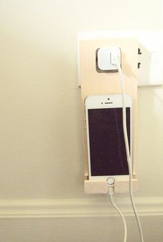 Wooden iPhone Dock by LouandFriendsTH on Etsy