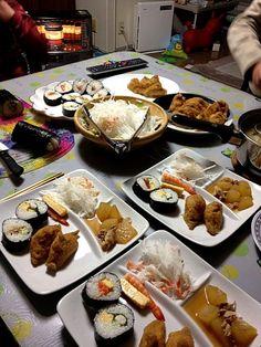 ワンプレートディナーだよ。。 - 30件のもぐもぐ - 巻き寿司といなり(*^_^*) by taekoko