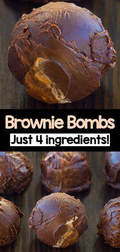 Easy Chocolate Brownie Fat Bombs (healthy keto snack) Keto Sweet Snacks, Low Fat Snacks, Low Carb Desserts, Keto Snacks, Sweet Treats, Protein Snacks, Protein Bars, Keto Bombs, Easy Fat Bombs Keto