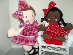 Cloth Doll PDF Pattern BFF Best Friends Forever by PeekabooPorch