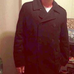 New men's Nautica coat This was only worn by the model. It is a black size large. Nautica Jackets & Coats