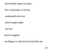 Broken tumblr poem