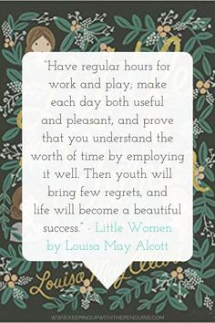 Rachelle and her sister LaRae discuss Louisa May Alcott's classic for children, Little Women, reflecting on Alcott's portrayal of the growing up process and the book's impact on their own childhood. Pretty Words, Beautiful Words, Cool Words, Wise Words, Woman Quotes, Life Quotes, Attitude Quotes, Little Women Quotes, March Quotes
