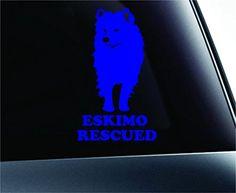 American Eskimo Rescued Dog Symbol Decal Funny Car Truck Sticker Window (Blue) ExpressDecor http://www.amazon.com/dp/B00RZYWNLI/ref=cm_sw_r_pi_dp_nAYRub0R07JNJ