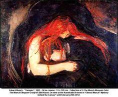 """""""Vampire"""", Edvard Munch, 1895"""