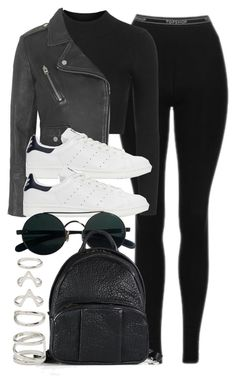 """""""Style #11741"""" by vany-alvarado ❤ liked on Polyvore featuring Topshop, adidas Originals, Alexander Wang and Forever 21"""