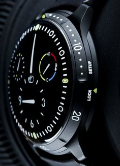 Ressence Type 5BB 'All-Black' DLC Oil-Filled Dive Watch