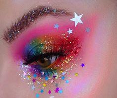 Eye Makeup 🌈💖🌈 EYN bright matte 9 colour palette The tropical wonders palette- coast & Atlantic… Edgy Makeup, Bright Eye Makeup, Rave Makeup, Makeup Eye Looks, Eye Makeup Art, Colorful Eye Makeup, Eye Art, Pretty Makeup, Eyeshadow Makeup