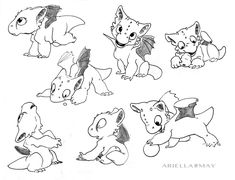 Baby Dragon Studies by AriellaMay on DeviantArt