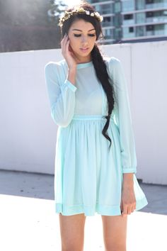 SABO SKIRT Prairie Dress - Mint - $62.00