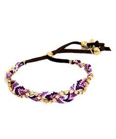 Ettika Rhinestone Purple Friendship Bracelet