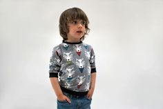SAVE 10% - Boys jersey sweater top wolf jumper wolves print soft grey organic cotton funky kids clothing baby toddler babies animal desginer by OliveAndVince on Etsy https://www.etsy.com/listing/384360178/save-10-boys-jersey-sweater-top-wolf