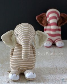 Sock Elephant - Free Sewing Pattern & Tutorial Sew sock elephant by using this ultimate pattern and tutorial. Easy to sew with guide from pictures and instructions. Great as handmade gift – Page 2 of 2 Sewing Patterns For Kids, Easy Sewing Projects, Sewing For Kids, Doll Patterns, Sewing Crafts, Free Sewing, Pattern Sewing, Bear Patterns, Elephant Stuffed Animal