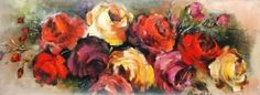 a21370 rose Petro Neal Neal Art, Art Projects, Rose, Ethnic Recipes, Painting, Art Designs, Art Crafts, Roses, Painting Art