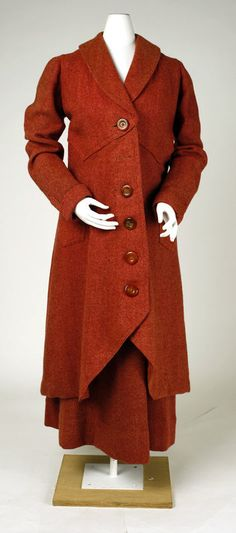 Suit 1914–18 French wool, horn