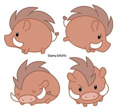 Chibi Wild Boar by Daieny.deviantart.com on @DeviantArt