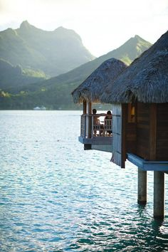 huts over water please