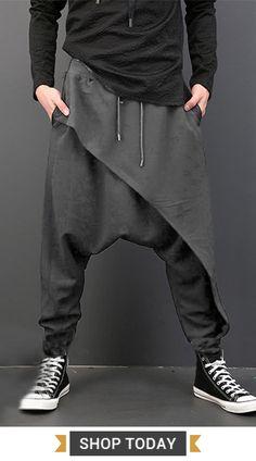 [ US$21.88 ]Men Harem Pants /Baggy Slacks Trousers /Jogger Sportwear /Dance Sweatpants#sports #dance #mensfashion #menstyle