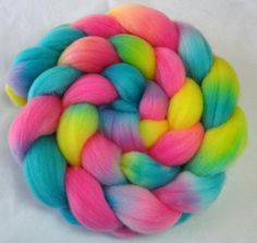 Hand Dyed Spinning Fiber Falkland Combed Top by KnittingKnorth, $16.00
