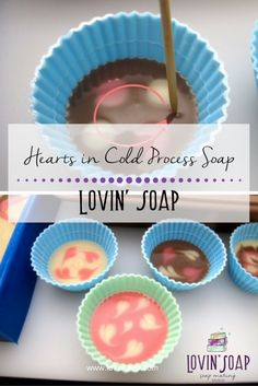 Hearts in Cold Process Soap - Soap | Handmade Soap | DIY Soap | Soap Making | Soapmaking | Learn to make soap | Natural Soap | Soap Recipe | Soap Tutorial