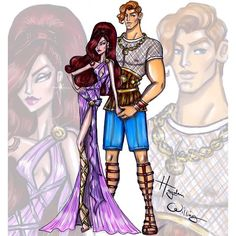 'Disney Darling Couples' by Hayden Williams: Hercules & Megara #Disney #Hercules