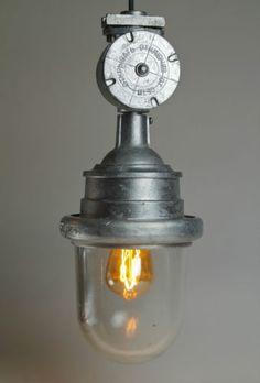 Retro Industrie Bunker Lampe Industrial Light Fixture Design Vintage CCCP in Antiquitäten & Kunst, Design & Stil, 1960-1969 | eBay