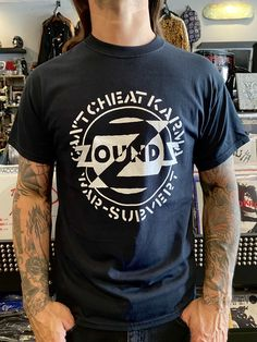 Zounds Shirt Band Shirts, White Ink, Karma, Mens Tops, Black, Cotton, Products, Fashion, Moda