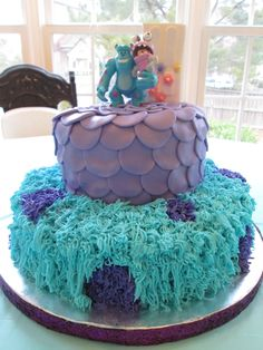 Monsters Inc cake I made for my niece.