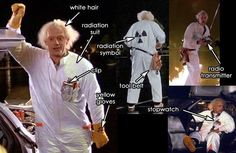 Here are gigawatt costume guides to dress up as Flying Dolorean inventor, Doc Emmett Brown. Twin Costumes, Cat Costumes, Halloween Costumes For Kids, Costume Ideas, Halloween Ideas, Halloween 2015, Back To The Future Party, The Future Movie, Doc Brown Costume