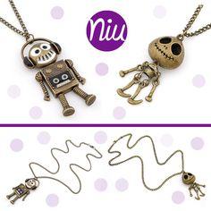 Collares de muñecos de cadena larga, encuentra esto y mucho más en: www.niuenlinea.co Charmed, Bracelets, Jewelry, Chains, Necklaces, Accessories, Jewlery, Jewerly, Schmuck