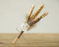 wheat lapel flowers